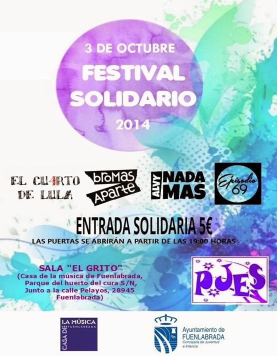 La Plataforma de Jóvenes Estudiantes por la Solidaridad (PJES) organiza el viernes su primer festival solidario